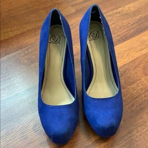 Shoes - Blue Suede Heels